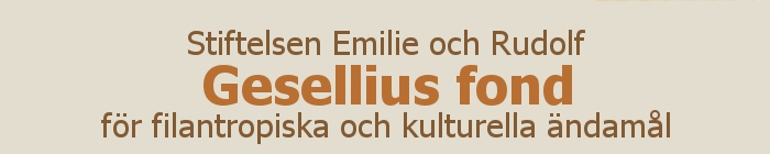 Stiftelsen Emilie och Rudolf Gesellius fond